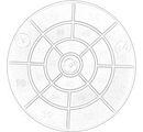 """09214 Дартс с мячиком на липучке, диаметр 8"""" (20 см)"""