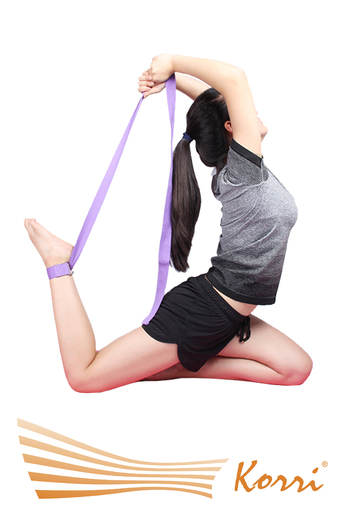 31728 Ремень для йоги. Применяется при выполнении упражнений для растяжения мышц и связок.