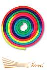 IN038 Скакалка для художественной гимнастики утяжеленная семицветная 165 г
