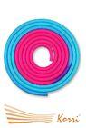 IN039 Скакалка для художественной гимнастики утяжеленная двухцветная 165 г