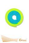 IN040 Скакалка для художественной гимнастики утяжеленная двухцветная 165 г