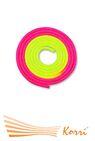 IN041 Скакалка для художественной гимнастики утяжеленная двухцветная 165 г