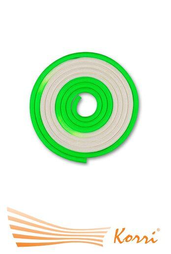 IN164 Скакалка для художественной гимнастики утяжеленная двухцветная 165 г