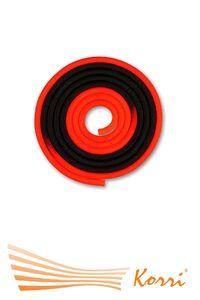 IN166 Скакалка для художественной гимнастики утяжеленная двухцветная 165 г