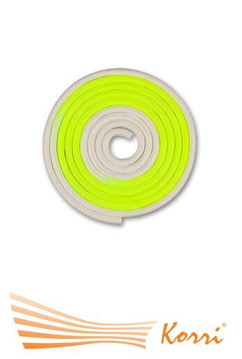 IN168 Скакалка для художественной гимнастики утяжеленная двухцветная 165 г