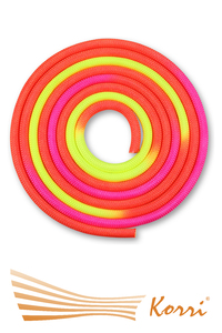IN126 Скакалка для художественной гимнастики утяжеленная трехцветная 165 г