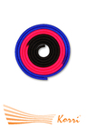 IN163 Скакалка для художественной гимнастики утяжеленная трехцветная 165 г