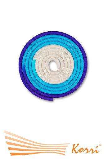 IN167 Скакалка для художественной гимнастики утяжеленная трехцветная 165 г