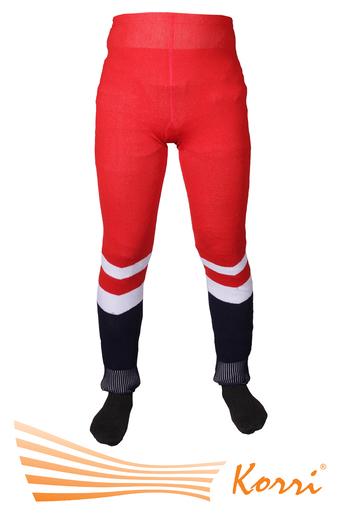 Хоккей 2. Рейтузы хоккейные вязанные анатомические. На следу штрипка