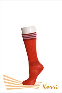 Спорт 6. Гетры футбольные с 1 резинкой на щиколотке и сверху с резинкой с тремя полосками (упаковка 5 шт)