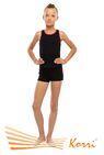 М 24-301 Майка-борцовка  для девочек  облегающая  с контрастной однотонной окантовкой  по горловине и проймам