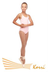 """Г 43-301 Ф Купальник гимнастический """"Адажио"""" на тонких лямках (хлопок) Цвет фламинго"""