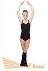 """Г 45-361 Купальник гимнастический """"Арабеск"""" балетного типа  на тонких бретелях с драпировкой на груди"""