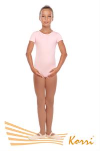 """Г 83-301 Ф Купальник гимнастический """"Мастер-класс"""" рукав-футболка (хлопок) Цвет фламинго"""