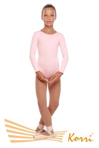 """Г 93-301 Ф Купальник гимнастический """"Силуэт"""" длинный рукав (хлопок) Цвет фламинго"""