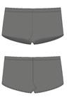 П 56-013 Плавки-шорты из ткани с пестрым рисунком
