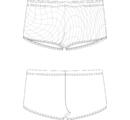 П 56-014 Плавки-шорты  комбинированные по цвету