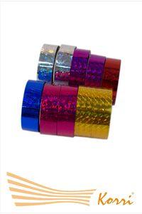 СЛО Лента обмоточная для обручей, скотч, голография (10 штук/упаковка).