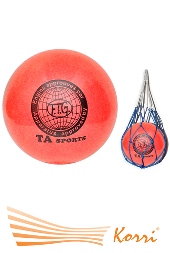 Мяч для художественной гимнастический с блеском  15 см