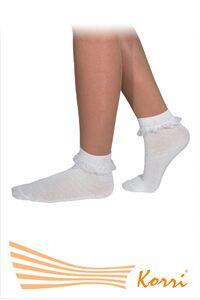 СН12 Носки с рюшами, средний паголенок (упаковка 6 шт)