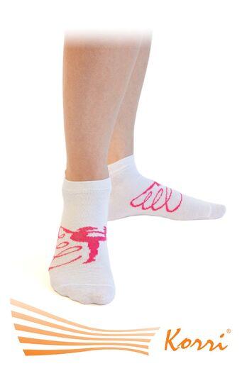 СН14 Носки спортивные, с большим рисунком гимнастки, укороченный паголенок (упаковка 6 шт)