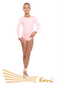 Т 93-301 Ф Топ с длинным рукавом (хлопок) Цвет фламинго