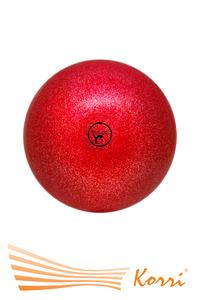 '00630 Мяч для художественной гимнастики GO DO. Диаметр 19 см. С глиттером. Россия