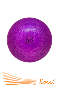 '00632 Мяч для художественной гимнастики GO DO. Диаметр 19 см. С глиттером. Россия