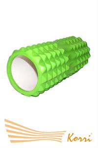 26182 Валик (ролл) для фитнеса рельефный, полый. Длина 32 см, внешний диаметр 12 см, внутренний диаметр 10 см.