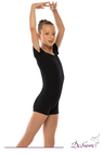 ДГ 080 Комбинезон гимнастический с шортами  рукав - футболка