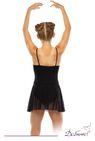 ДГ 440 Купальник гимнастический на тонких лямках, юбка - сетка