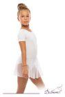 ДГ 880 Купальник гимнастический  рукав - футболка, юбка - сетка