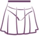 Ю 12-751 Юбка-сетка на резинке (ДЮ 120)