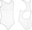 К 35-013 Купальник совместный из пёстрой ткани  спинка-борцовка